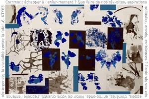 Echappée 2004 encre sur papier 100 x 70 cm