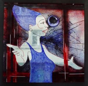 Nina Spell 2008 sur plexiglass 113 x 113 cm