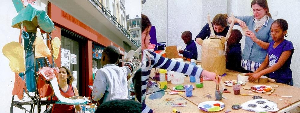 Direction d'ateliers Arts Plastiques dans l'est parisien en 2004